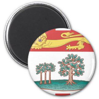 Prince Edward Island flag 6 Cm Round Magnet