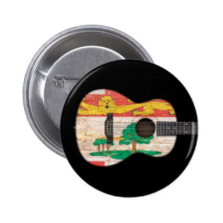 Prince Edward Island Flag Acoustic Guitar black Pinback Buttons