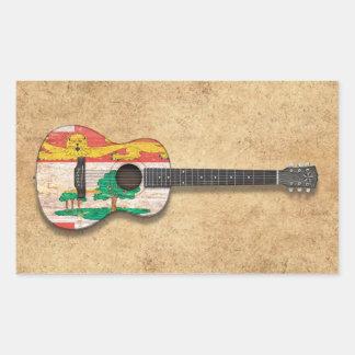 Prince Edward Island Flag Acoustic Guitar Sticker