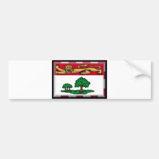 Prince Edward Island Flag Car Bumper Sticker