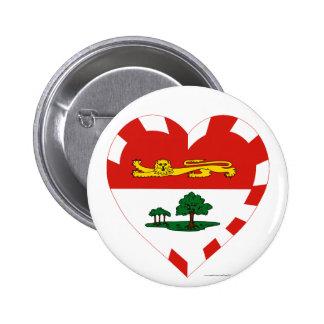Prince Edward Island Flag Heart Button