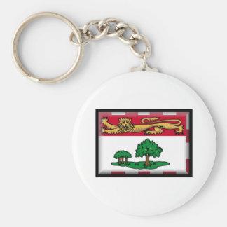 Prince Edward Island Flag Basic Round Button Key Ring