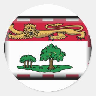 Prince Edward Island Flag Round Stickers