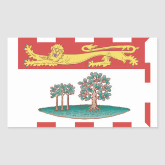 Prince Edward Island Flag Rectangle Sticker