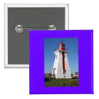 Prince Edward Island-Lighthouse Pinback Button