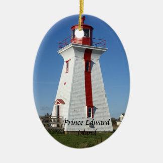 Prince Edward Island-Lighthouse Ceramic Oval Decoration
