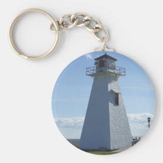 Prince Edward Island-Lighthouse Basic Round Button Key Ring