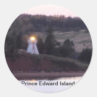 Prince Edward Island-Lighthouse Round Sticker