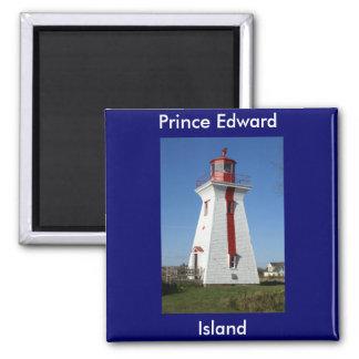 Prince Edward Island-Lighthouse Square Magnet