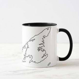Prince Edward Island Map Mug