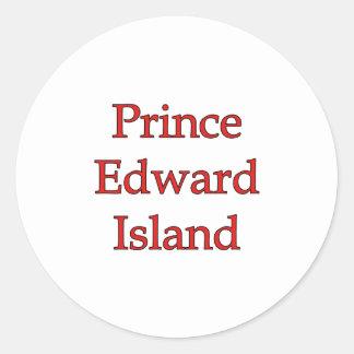 Prince Edward Island Round Sticker