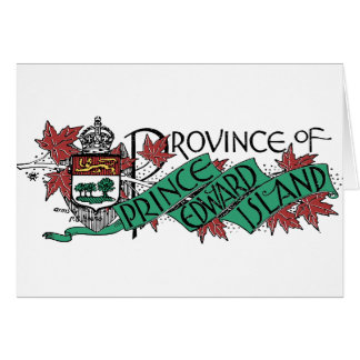 Prince Edward Island Vintage Coat of Arms Drawing Card