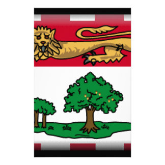 Prince Edward Islands (Canada) Flag Stationery Paper