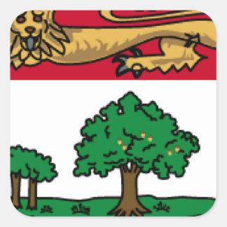 Prince Edward Islands (Canada) Flag Square Stickers