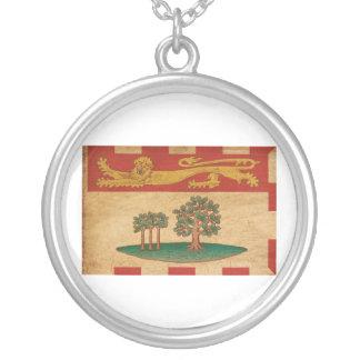 Prince Edward Islands Flag Round Pendant Necklace