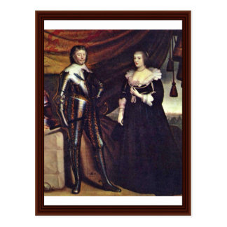 Prince Frederick Henry And His Wife Amalia Postcard