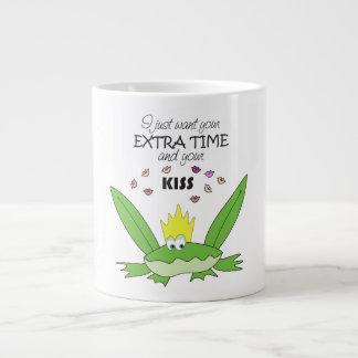 Prince Frog Funny Song Words Love Kiss Cute Green Large Coffee Mug