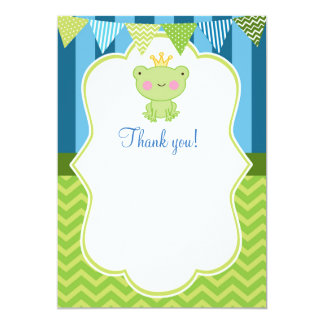 Prince Frog Thank You Card Blank