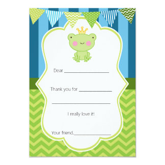 Prince Frog Thank You Card Fill in