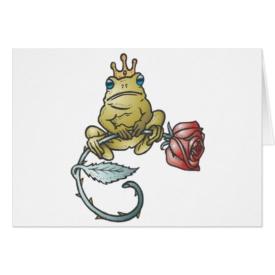 prince frog with rose card
