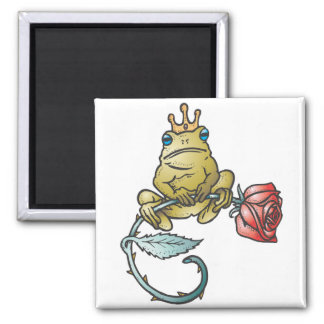 prince frog with rose magnets