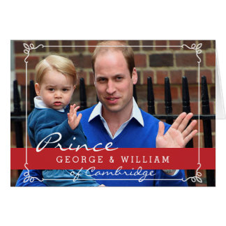 Prince George and Prince William Greeting Card