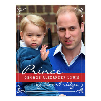 Prince George and Prince William Postcard