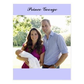 Prince George Kate William Royal Baby Postcard