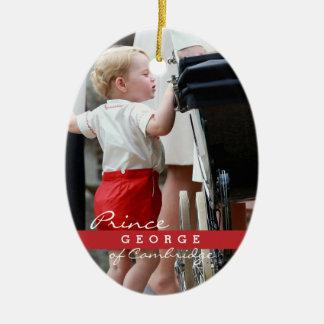 Prince George of Cambridge Ceramic Oval Decoration
