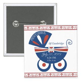 Prince George of Cambridge Royal Baby Keepsake 15 Cm Square Badge