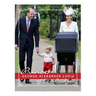 Prince George - Princess Charlotte - William Kate Postcard