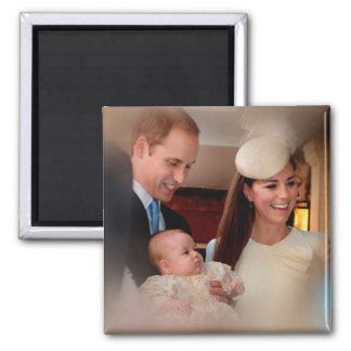 Prince George Royal Family Square Magnet