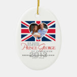 Prince George - William & Kate Ceramic Oval Decoration