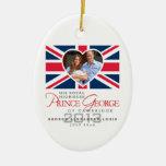 Prince George - William & Kate Ceramic Oval Decoration