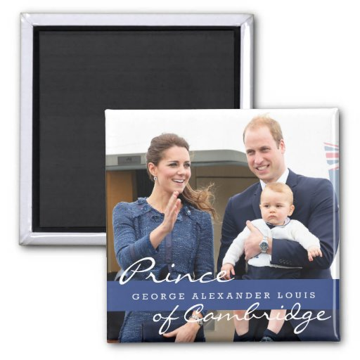 Prince George - William & Kate Refrigerator Magnet