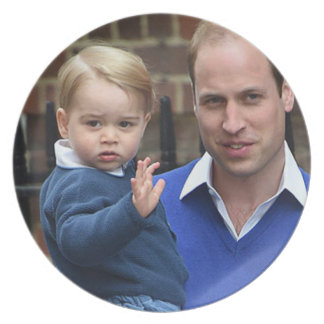Prince George - William & Kate Dinner Plate