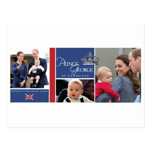 Prince George - William & Kate Postcard