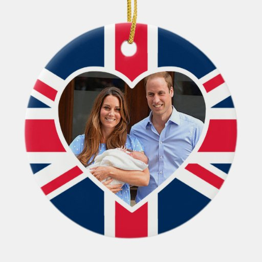 Prince George - William & Kate Round Ceramic Decoration