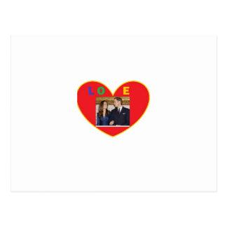Prince Harry & Kate Postcard
