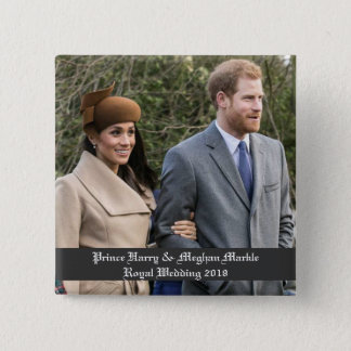 Prince Harry & Meghan Markle Royal Wedding 2018 15 Cm Square Badge