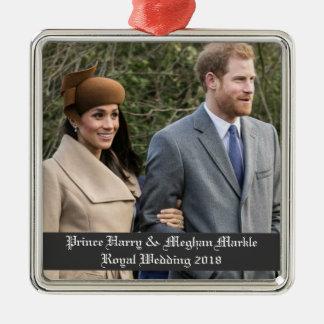 Prince Harry & Meghan Markle Royal Wedding 2018 Metal Ornament