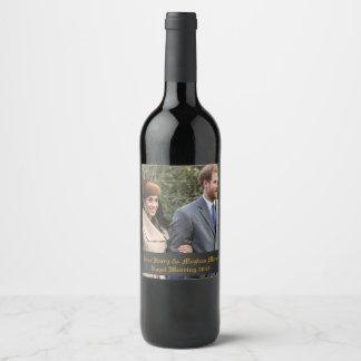 Prince Harry & Meghan Markle Royal Wedding 2018 Wine Label