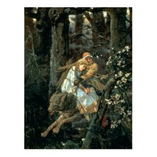 Prince Ivan on the Grey Wolf, 1889 Postcard
