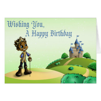 """Prince Jamal Birthday Cards"" Card"