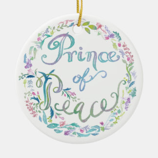 """Prince of Peace"" watercolor Ornament - Isaiah 9:6"