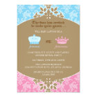 Prince or Princess Damask Gender Reveal Party Card