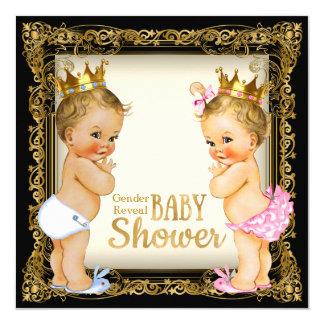 Prince or Princess Gender Reveal Fancy Baby Shower 13 Cm X 13 Cm Square Invitation Card