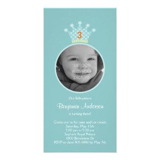 Prince Photo Birthday Party Invitation Photo Card