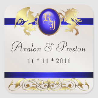 Prince & Princess Blue  Save The Date Sticker