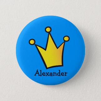 Prince Princess Crown Button